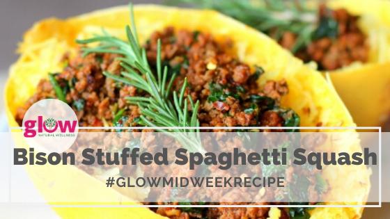 Bison Stuffed Spaghetti Squash