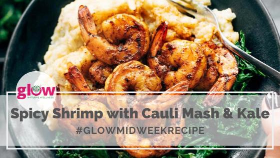 Spicy Shrimp with Cauli Mash and Kale