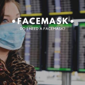 Girl wearing a facemask