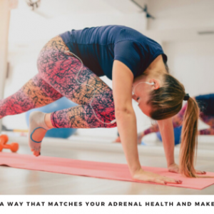 Woman exercising to improve adrenal health