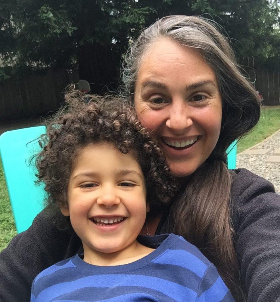 Jen Lawton and son