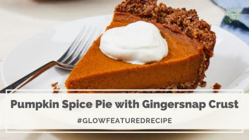 Pumpkin Spice Pie With Gingersnap Crust